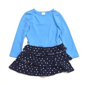 Hanna Andersson Blue Polka Dot Dress Sz 5T